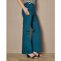 High Waisted Cotton Kick Flare Jean