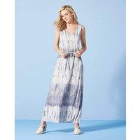 Blue/White Tie Dye Maxi Dress