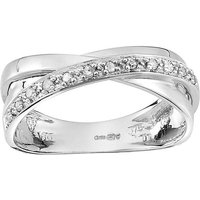 9 Carat White Gold Diamond Twist Ring