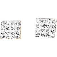 9 Carat Gold Crystal Stud Earrings