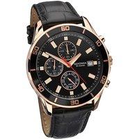 Sekonda Rose-gold Leather Strap Watch