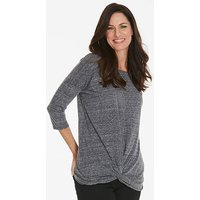 Twist Front Top with 3/4 Sleeve
