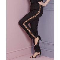 Animal Panel Trim Tapered Trousers Reg