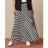 Spot Sunray Pleat Maxi Skirt