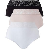 10 Pack Lace Top Full Fit Briefs