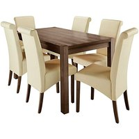 Oakham Table 6 Siena Faux Leather Chairs