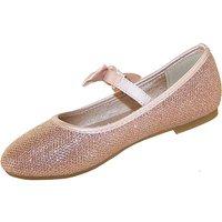 Sparkle Club Gold Ballerinas