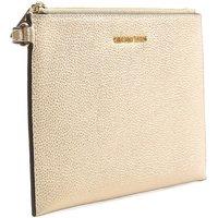 Michael Kors Gold Leather Clutch Bag