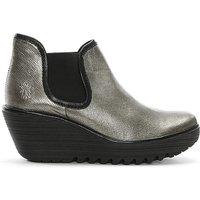 Fly London Metallic Wedge Chelsea Boots