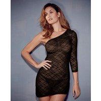 Katrina Lace Black Asymmetric Dress