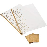 Gold Stars 2 Placemats & 2 Coasters