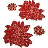 Poinsettia Set of 2 Placemats & 2 Coaste