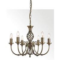 Antique Brass 6 Light Ceiling Light