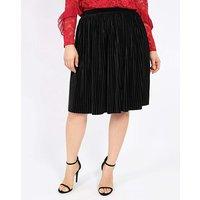 Lovedrobe Velvet Pleated Skirt