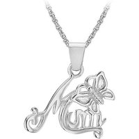Sterling Silver Mum Necklace