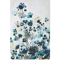 Moody Blue Watercolour Printed Canvas
