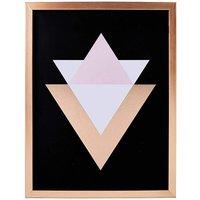 Rose Gold Geometric Framed Print at JD Williams Catalogue