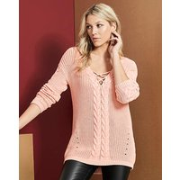 Cable Lace Up Jumper