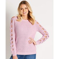 Cable Knitted Cut Out Jumper