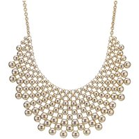 Mood Gold Ball Statement Necklace