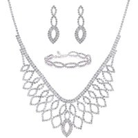 Mood Silver Diamante Jewellery Set