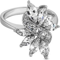 Jon Richard leaf crystal cluster ring