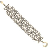 Mood Gold Floral Diamante Bracelet