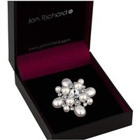 Jon Richard pearl and crystal brooch