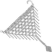 Mood Crystal Hand Chain With Ring