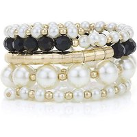 Mood Pearl And Bead Coil Bracelet