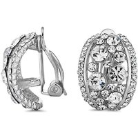 Jon Richard half hoop clip on earring