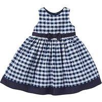 KD Baby Navy Gingham Dress