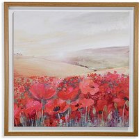 Arthouse Sunset Poppies Framed Canvas