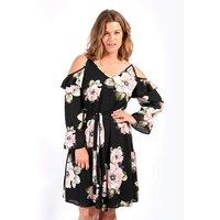 Lovedrobe GB Floral Cold Shoulder Dress