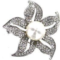 Lizzie Lee Pearl Flower Brooch