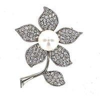 Lizzie Lee Full Pearl Flower Brooch