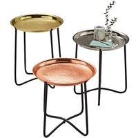 Artisan Set of Three Hammered Tables