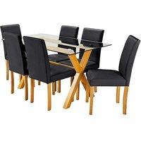 Albany Rectangular Table 6 Mia Chair
