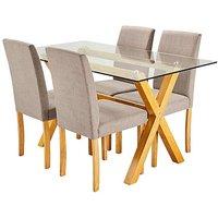 Albany Rectangular Table 4 Mia Chairs at JD Williams Catalogue