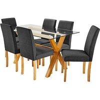 Albany Rectangular Table 6 Mia Chairs