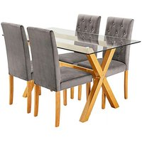 Albany Rectangular Table 4 Grace Chairs at JD Williams Catalogue