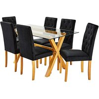 Albany Rectangular Table 6 Grace Chairs