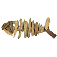 Natural Driftwood Ornament Fish Skeleton