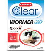'Bob Martin Dewormer For Cats & Kittens Spot On - 4 Tubes