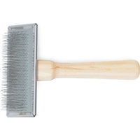 Ancol Heritage Wood Handle Soft Slicker Brush Medium