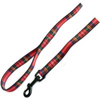 Ancol Nylon Tartan Dog Lead 1.2m x 19mm Red