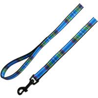 Ancol Nylon Tartan Dog Lead 1.2m x 19mm Blue