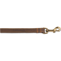 Ancol Timberwolf Leather Dog Lead 1m - Sable