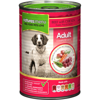 Natures Menu Beef & Chicken with Veg Adult Dog Food Cans 400g x 12