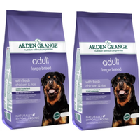 Arden Grange Chicken & Rice Large Breed Adult Dog Food 12kg x 2